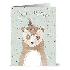 24 Birthday Cards - Birthday Bear - Gray Envs