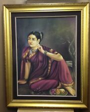Beautiful large painting of Indian woman