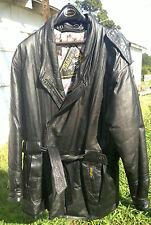 Totally 80s Vintage Leather Golden Goose Men's Med. Jacket Coat Exc Cond Lined