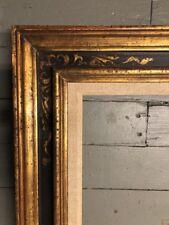 Modernist Style Gilt & Black Gold Picture Frame 21.5 X 25.5