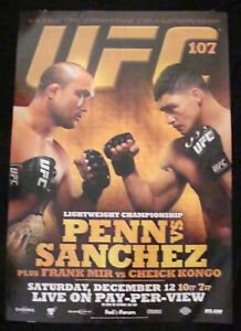 UFC 107 Lightweight Championship BJ PENN  vs DIEGO SANCHEZ poster MMA promo