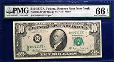 $10 1977A FRN Fr-2024-B* NY PMG66 Gem Uncirculated