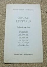 WESTMINSTER CATHEDRAL - ORGAN RECITALS PROGRAMME. 1966.