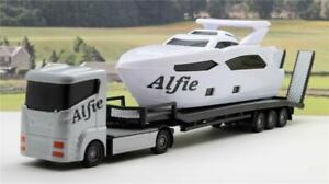 PERSONALISED ANY NAME Gift Boys Toy LORRY YACHT BOAT TRANSPORTER Present Box New