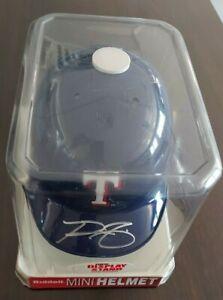 PRINCE FIELDER MLB Riddell Mini Helmet Autographed COA - Texas Rangers