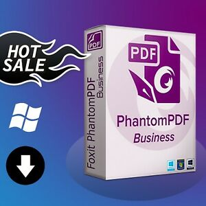 ☑️Foxit PhantomPDF Business 10 The Full Version For Windows