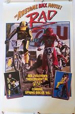 RAD MOVIE RARE PRE RELEASE PROMO POSTER MINT ROLLED BMX