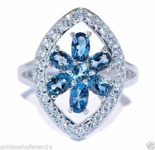 Unbehandelte Topas echten Ringe mit Edelsteinen aus Sterlingsilber