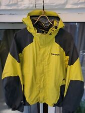 Marmot Men's Yellow/Grey Hooded Snow Ski Jacket Size M
