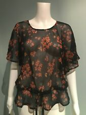TOPSHOP Summer Top Size 6 Romantic Flowing Sexy Bohemian