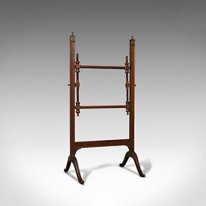 Antique Needlepoint Stretcher, English, Mahogany, Tapestry Frame, Victorian