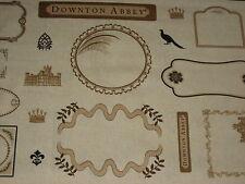 Patchwork TESSUTO, MAKOWER, serie Downton Abbey II, LABEL, applicazione
