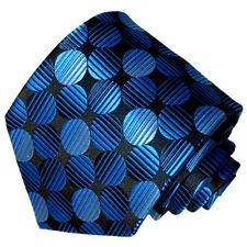 Men's dark blue with light blue polka dot patterned  tie