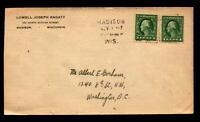 US 1917 Famous Philatelist Ragatz Corner Card Cover - L5294