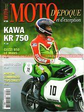 MOTO D'EPOQUE 25 GUZZI 850 Le Mans KAWASAKI KR 750 NORTON HARLEY DAVIDSON WLA