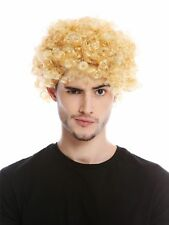 Wig Men's Women's Carnival short Kraus Curly Curls short Afro Blonde Mopp