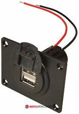 USB Einbausteckdose 5A = 2x 2,5A Adapter Kabel Ladegerät KFZ Boot Navi