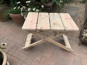 HANDMADE Folding Side Table Made From Wooden Pallets Folding Storable Glamping