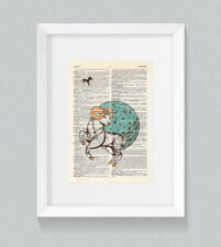 Aries Zodiac Astrology Starsign Vintage Dictionary Book Print Art