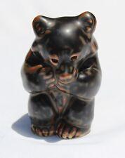 Royal Copenhagen Denmark Adorable Bear Cub Scandinavian Art Pottery Figurine Mcm