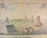 Insel Wangerooge aquarellierte Federzeichnung 1820 Schuster Leer 1976 G-1211