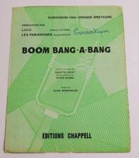 Partition vintage sheet music LULU : Boom Bang a Bang * Eurovision 1969 UK