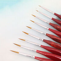 6X Detail Paint Brush Acrylic Oil Artist Watercolor Painting Brushes-Supplies NP