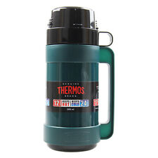 Thermos 500ml Green Mondial Glass Vacuum Insulated Hot Cold Travel Bottle Flask