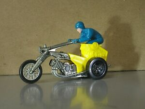 Hot Wheels Redlines Rrrumblers Chopin Chariot Motorcycle Trike RARE Bike & Rider