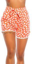 Pünktchen Sommer Shorts im High Waist-Style