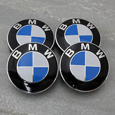 4 x BMW WHEEL CENTRE CAPS 68MM 10 PIN CLIP FITS 1,3,5,7 Series E90 E34 Z4