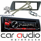 Peugeot 306 JVC CD MP3 USB AUX RED Display Car Stereo Radio Player & Fitting Kit