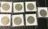 Lot Of 7 Canadian Coins - Partial Silver Silver Dollars