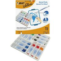 BIC Velleda 1721 Whiteboard Pens - Assorted Colours, Classpack of 72
