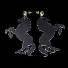 1 Pair Women Clear Acrylic Animal Horse Shape Earrings Drop Punk Style Jeweley