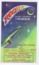 Rocket Brick firecracker pack label 60's DOT Class C Kwongyuen Hangkee  80/16