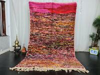 "Boujaad Handmade Moroccan Vintage Rug 5'4""x8'9"" Colorful Dotted Wool Berber Rug"
