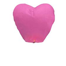 Jring Rojo Corazón Forma Faroles del Cielo, chino tradicional volando Linternas Brillante