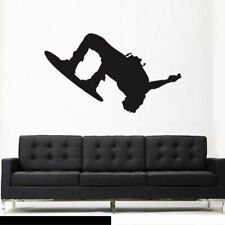 Wall Vinyl Sticker Bedroom Snowboard Snow Skier Sport Snowboarder (Z3097)