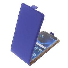 Funda para Samsung Galaxy S7 Edge protectora Teléfono Móvil con tapa Azul