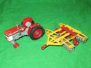 Corgi Toys 66 Massey Ferguson 165 Tractor & Tandem Disc Harrow incomplete