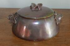 Alphonse Cytère : Bonbonnière aux lierres - ceramique émaillée dlg massier