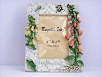 Lot of 2 4x6 Picture Frame Floral  Flowers Honey Bells Margarita's Design