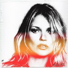 KATE MOSS RAINBOW LINES MR CLEVER ART street art print fashion model luxury pop