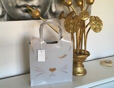 Rare TED BAKER Silver Grey Iconic LARGE Cat Tote Bag PERFECT VALENTINES DAY GIFT