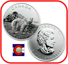 2011 Canada 1 oz Silver Maple Leaf Grizzly Roll -- 25 Canadian Coins in Tube