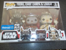 Star Wars Funko Pop 3 Pack Ewoks  Teebo Chief Chirpa Logray  BRAND NEW  EWOK
