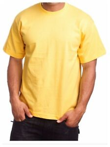 Men Big and tall Heavy Weigh Plain T-Shirt Crew Neck Casual Basic Solid Tee S-7X