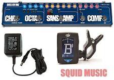 Tech 21 Sansamp Bass Fly Rig Compressor Chorus Octave Fuzz & Boost ( FREE TUNER)