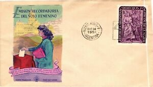 GP GOLDPATH: ARGENTINA COVER 1951 FIRST DAY COVER _CV680_P10